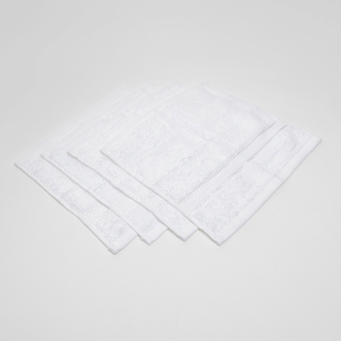 Set of 4 - Textured Egyptian Cotton Face Towel - 30x30 cms