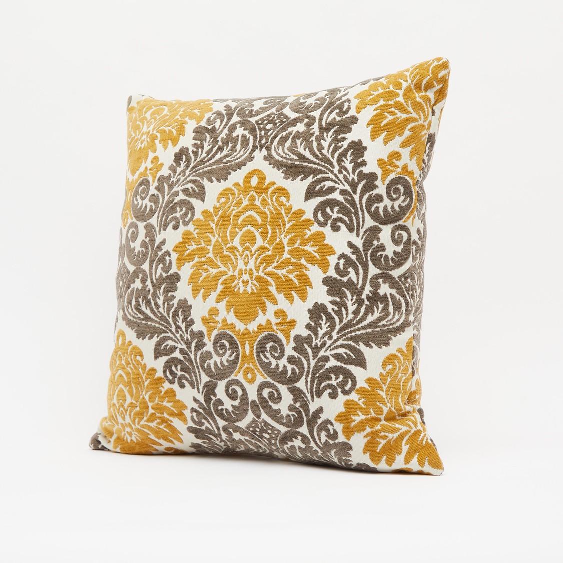 Jacquard Filled Cushion - 43x43 cms
