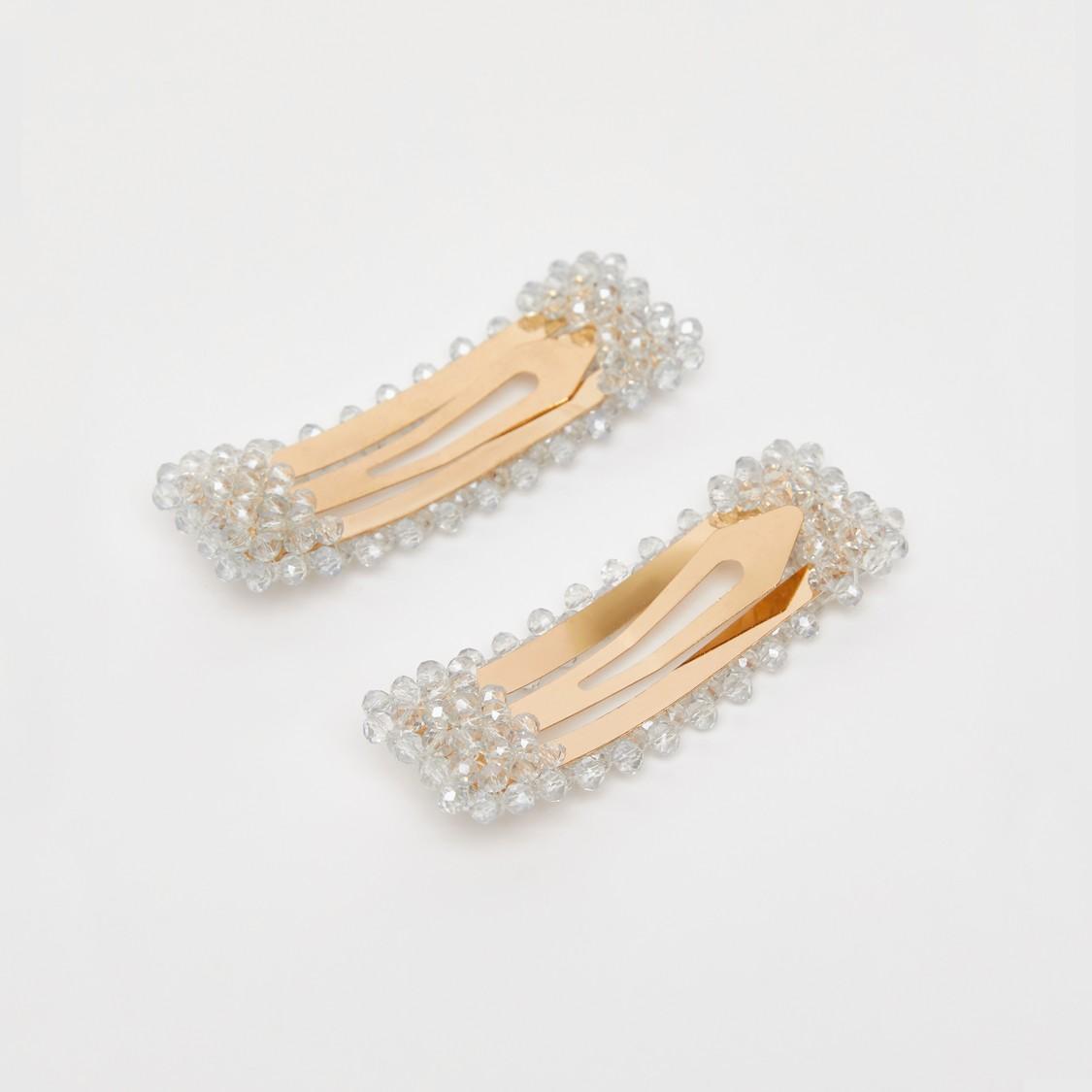Set of 2 - Embellished Tic Tac Hair Clip