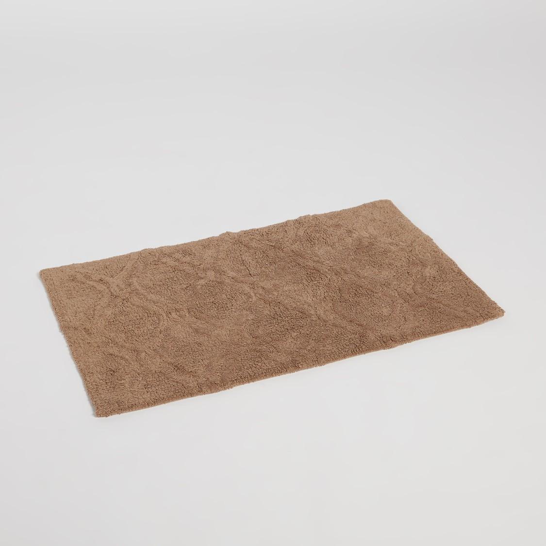 Textured Rectangular Bath Mat - 50x80 cms