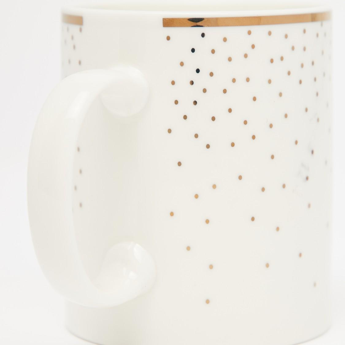 Printed Mug with Curved Handle