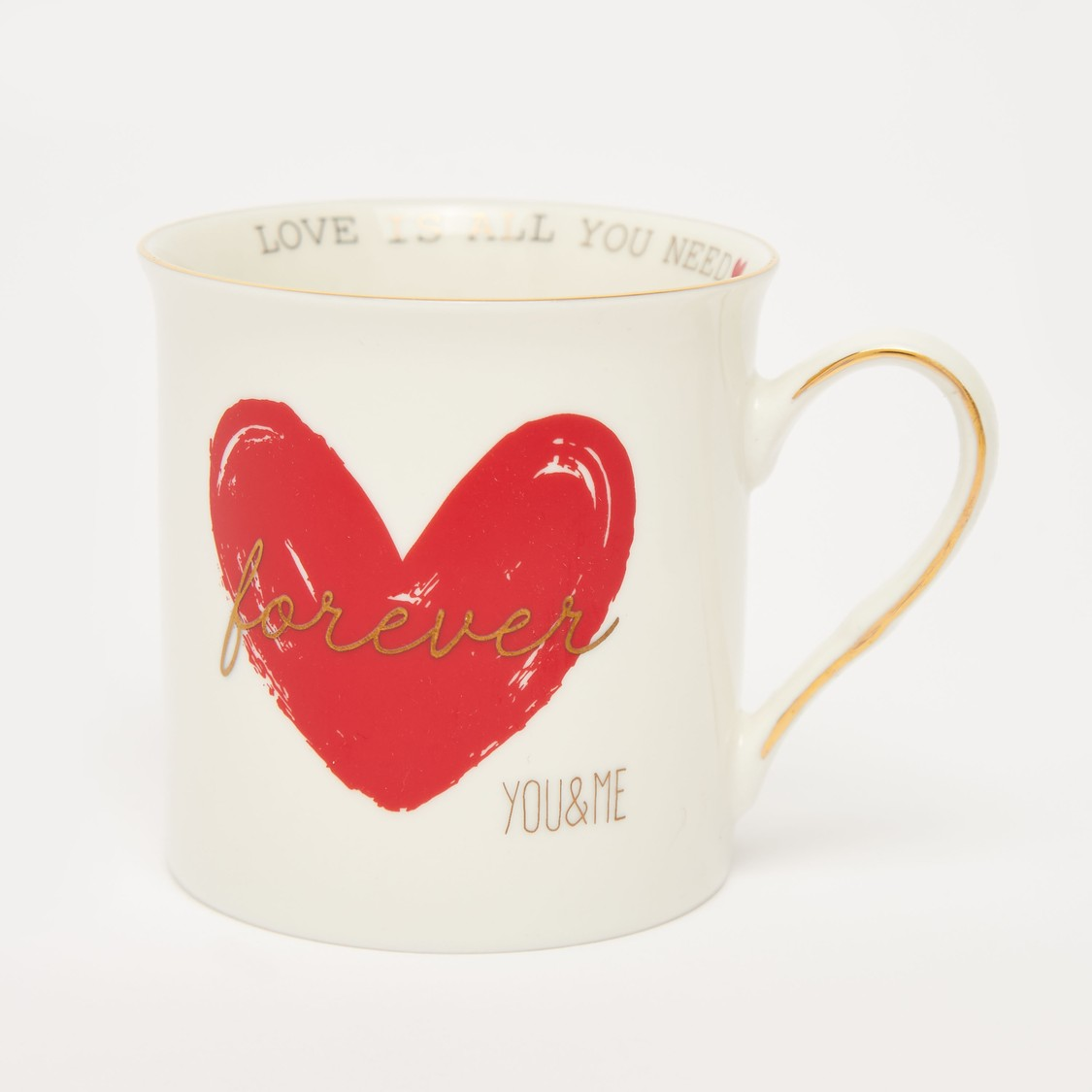 Set of 2 - Printed Mugs with Curved Handle
