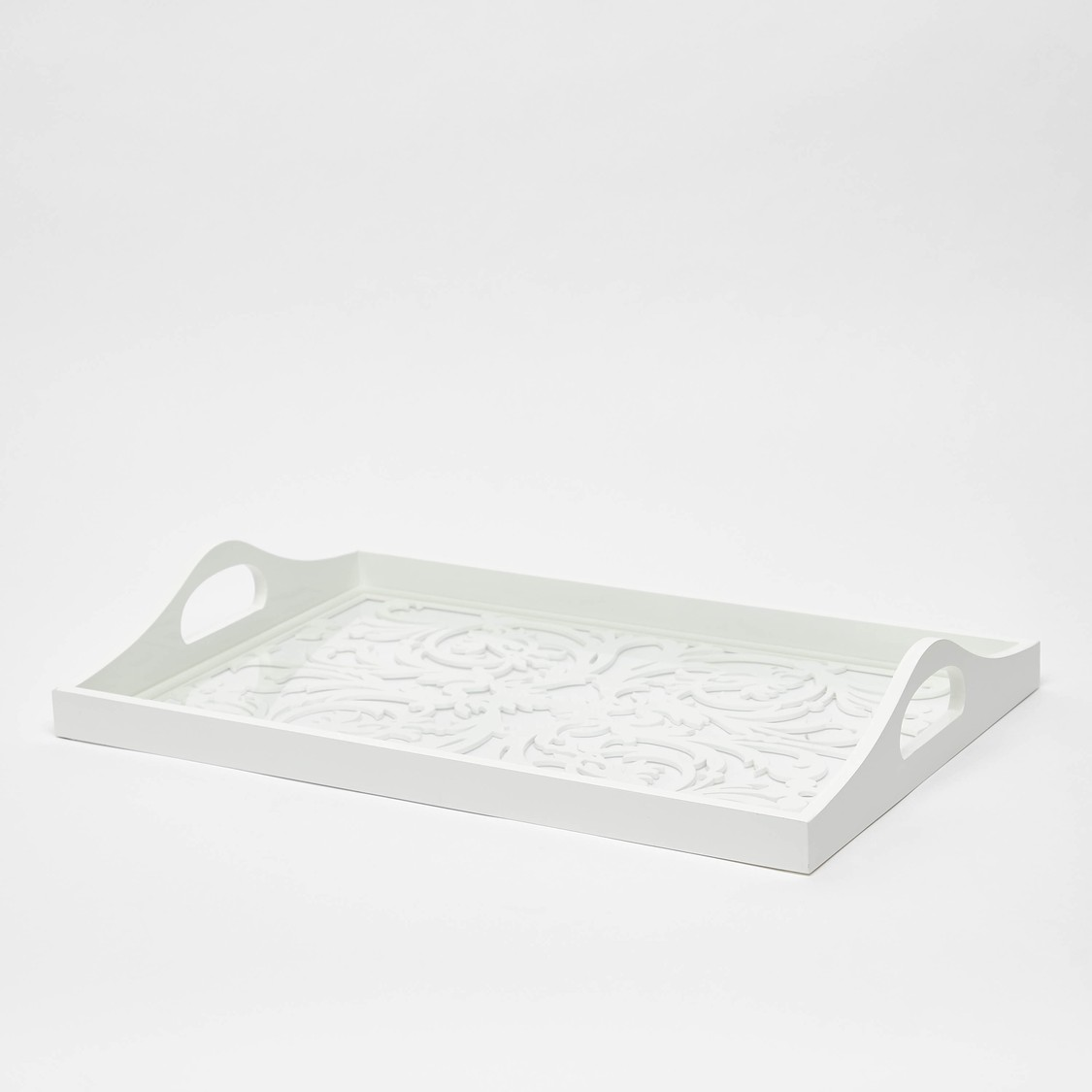 Serving Tray with Cutout Handles - 45x30 cms