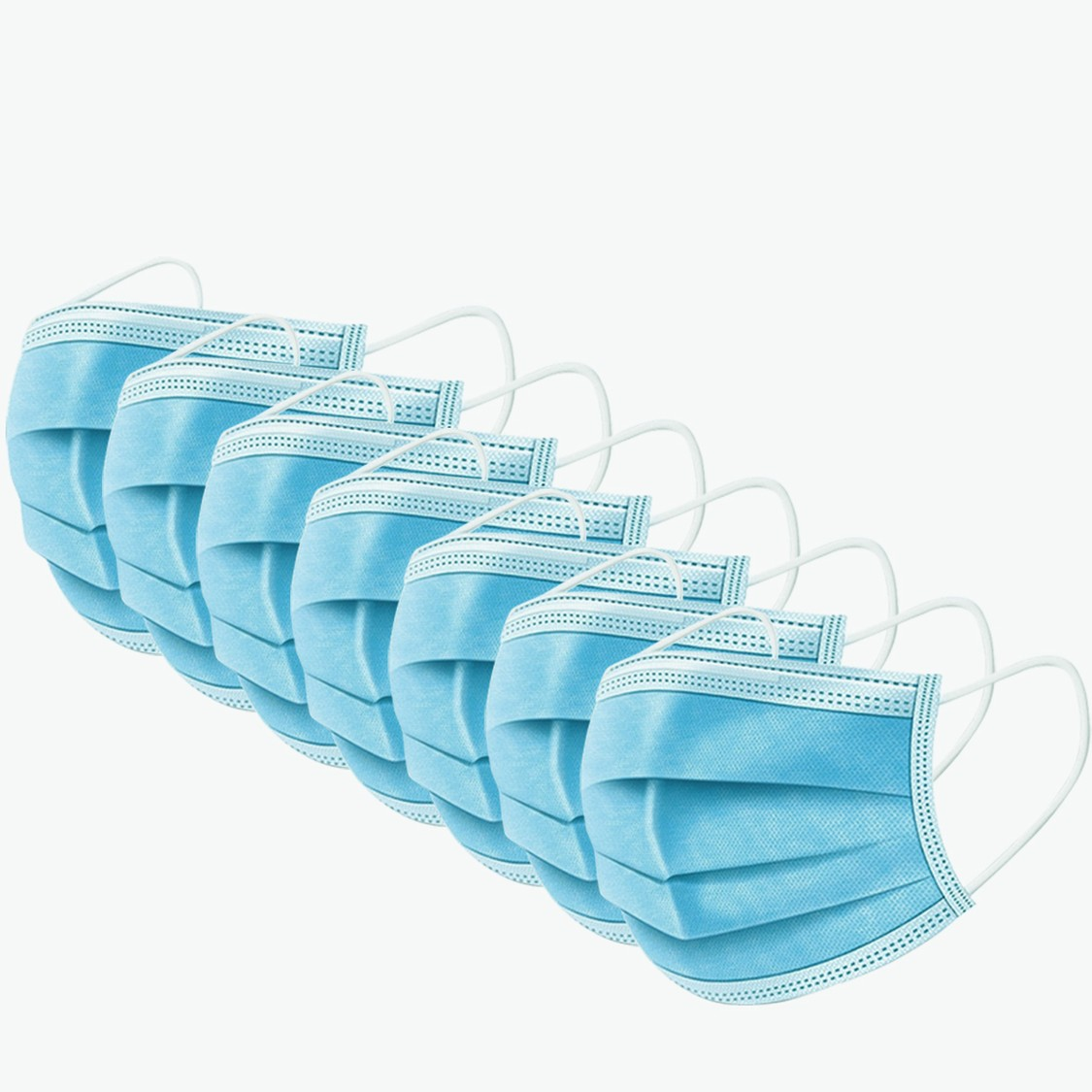 Set of 7 - Solid Masks with Elasticised Straps
