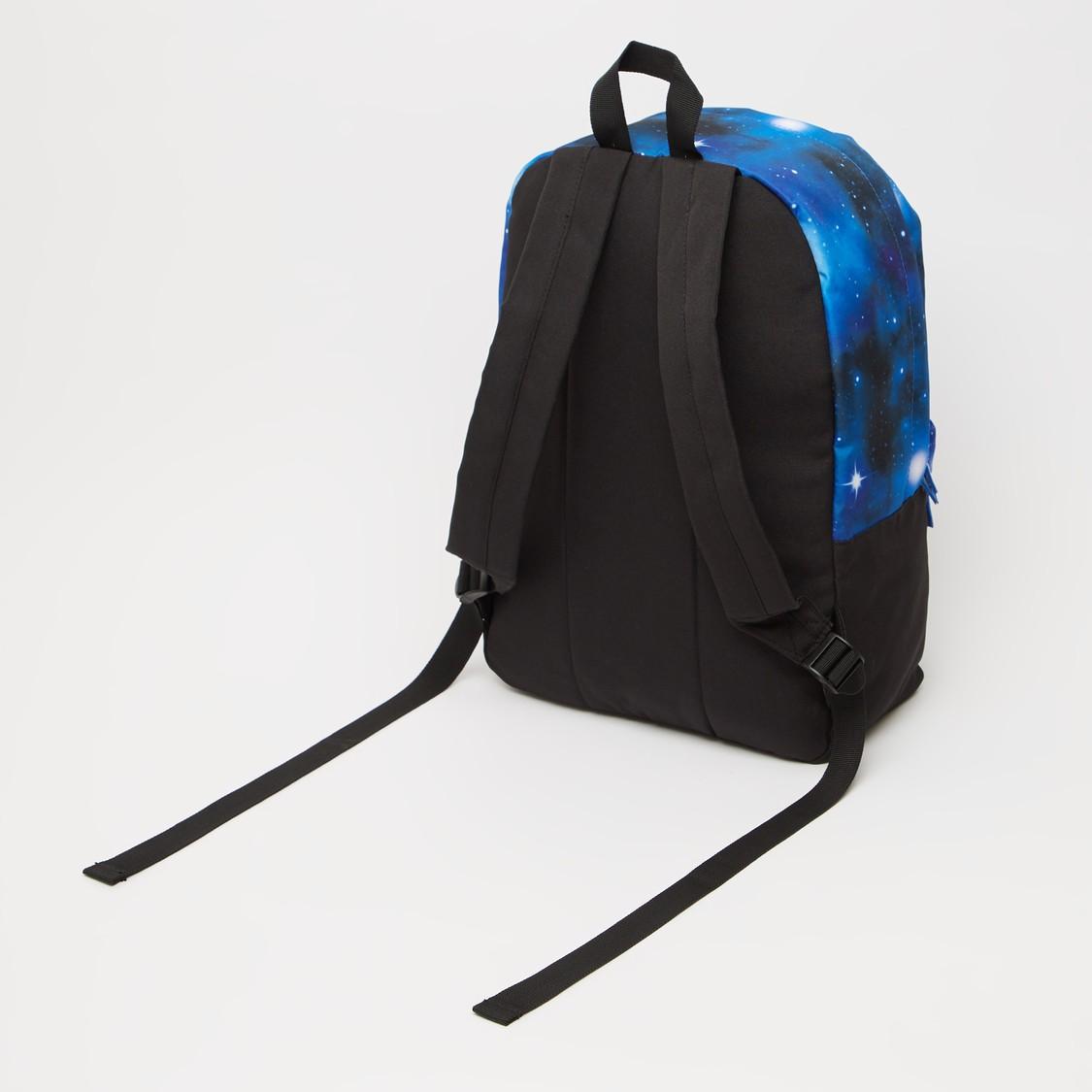 NASA Print Backpack with Adjustable Shoulder Straps - 16 Inches