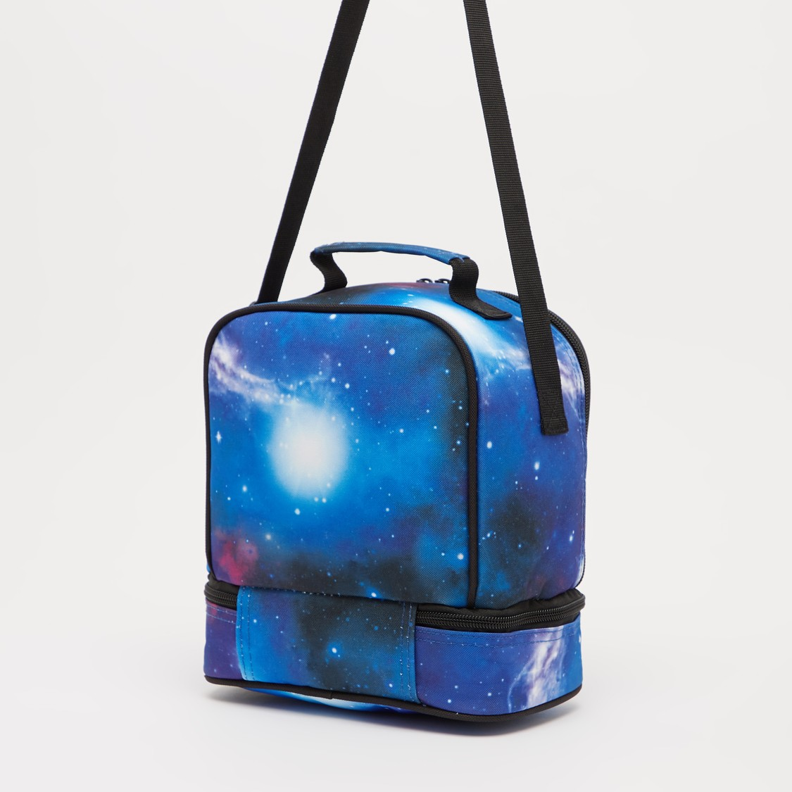 NASA Print Lunch Bag with Adjustable Strap and Zip Closure