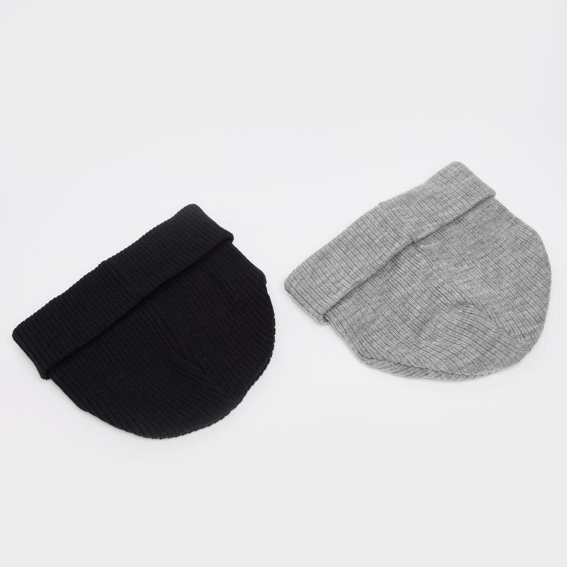 قبعة بيني بطبعات - طقم من قطعتين