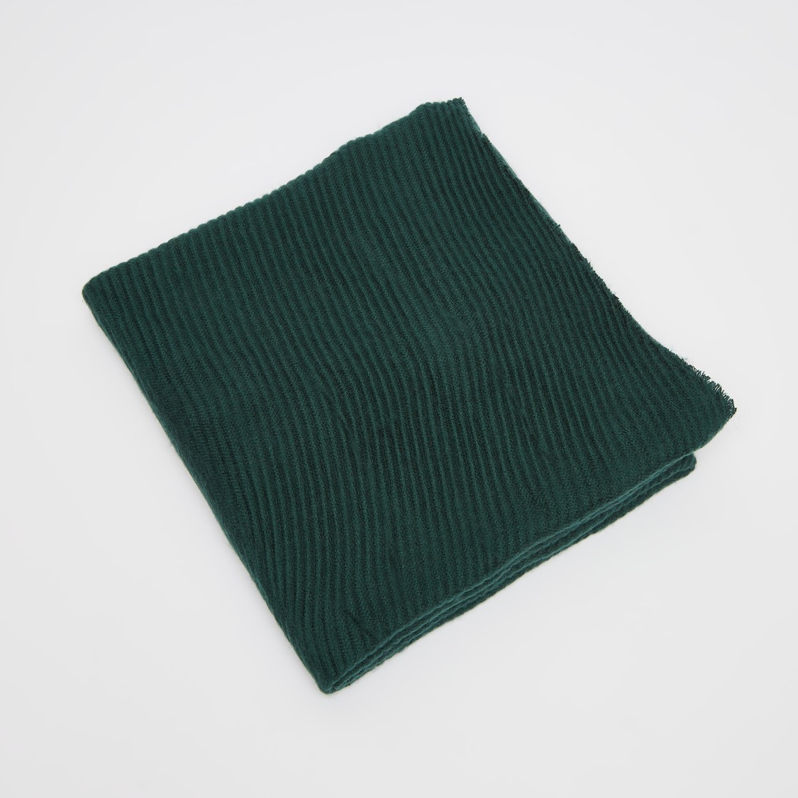 Ribbed Woolen Scarf