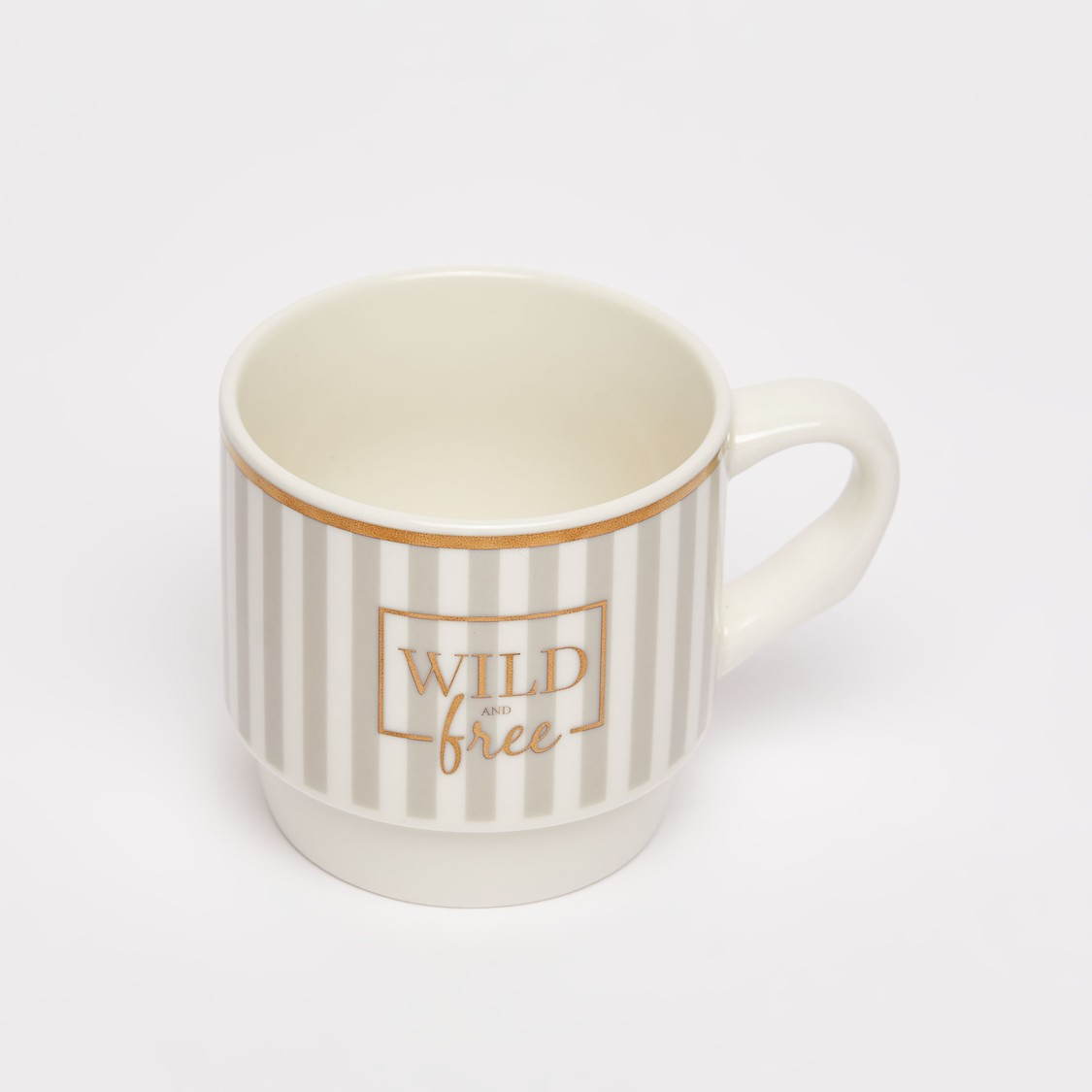 Set of 2 - Striped Mug with Handle