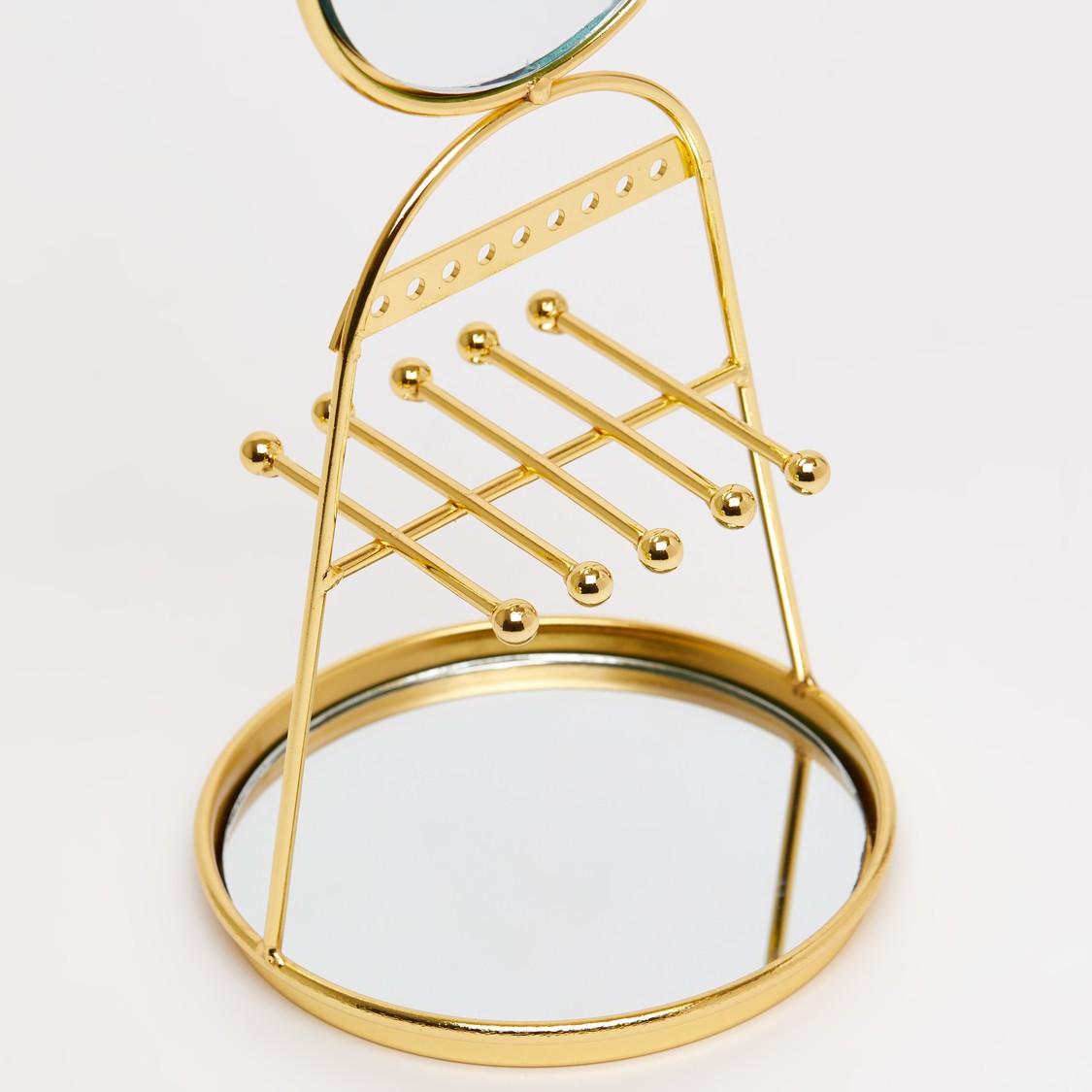 حامل مجوهرات مزيّن بمرآة