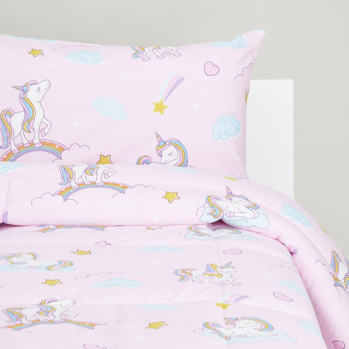 Unicorn Print 2-Piece Comforter Set - 220x160 cms