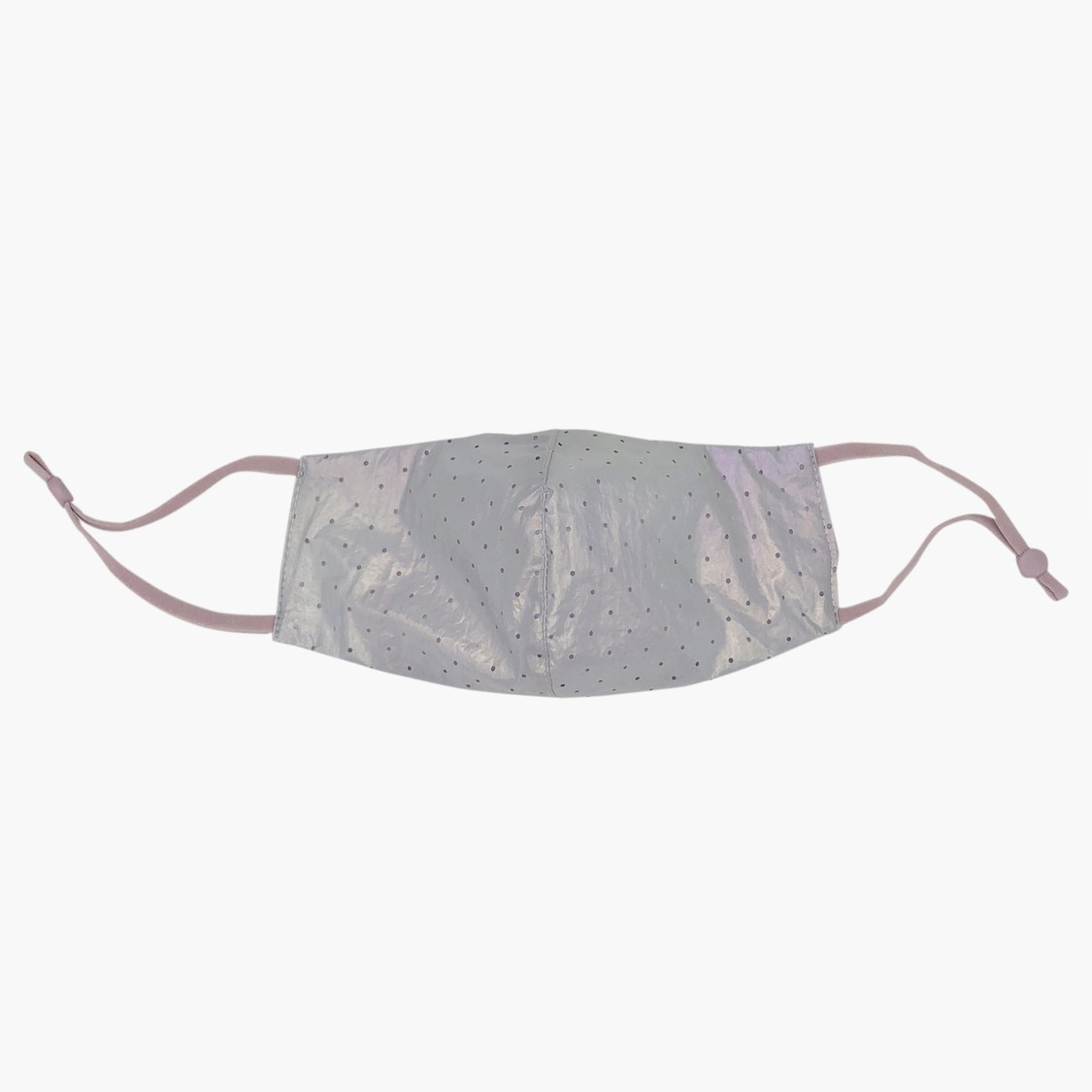 Set of 2 - Scatter Dots Print Reflective Masks with Elasticised Straps