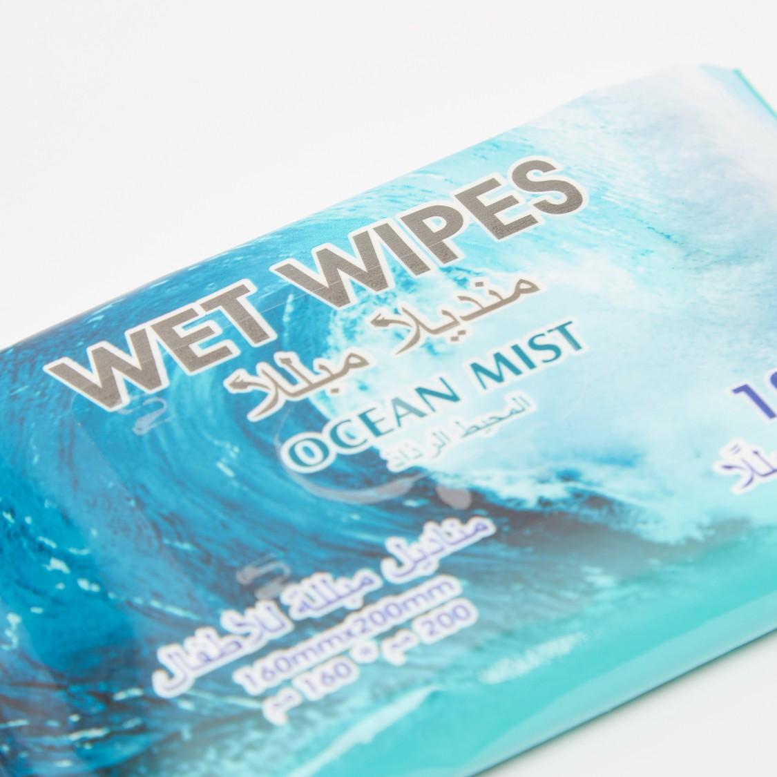 Pack of 8 - Wet Wipes Ocean Mist
