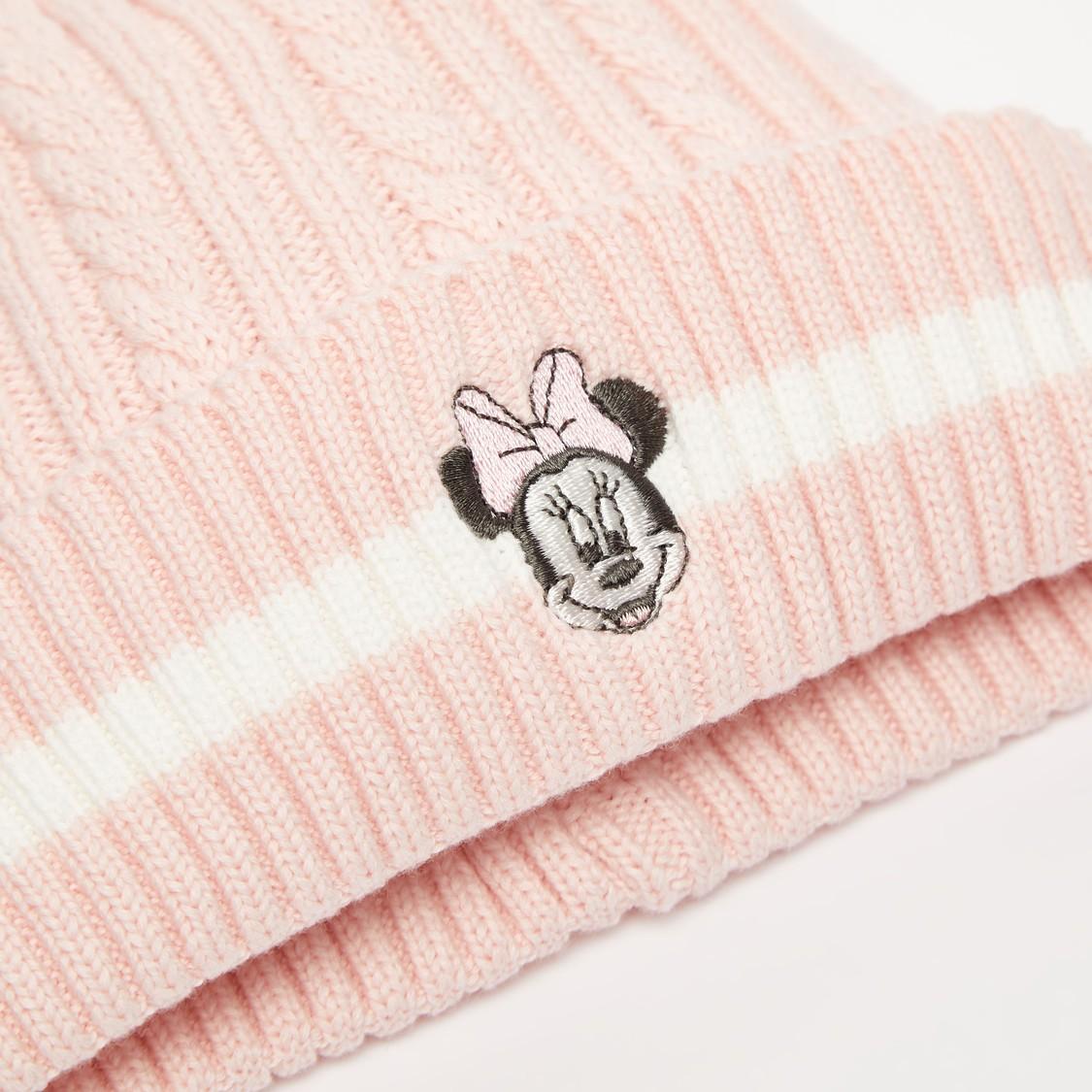 قبعة بيني بتطريزات ميني ماوس