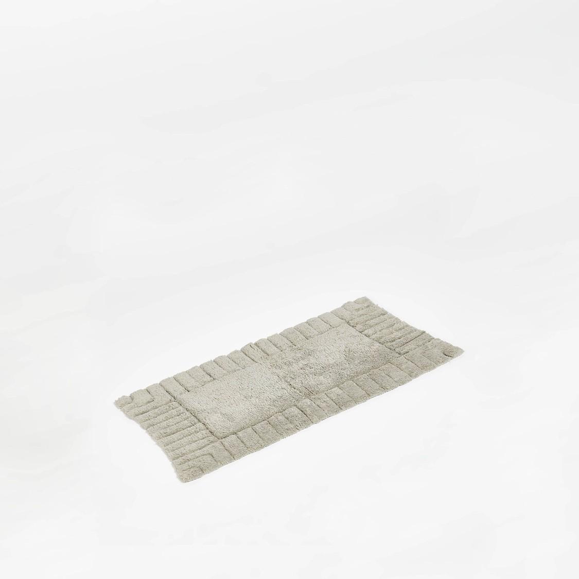 سجادة حمام بارزة الملمس - 80x50 سم