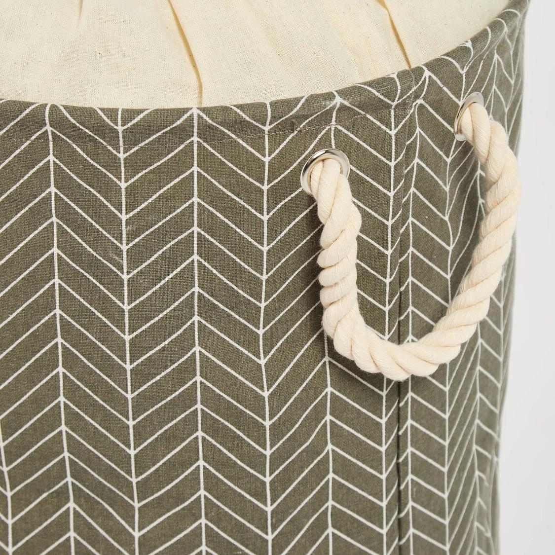 Printed Laundry Hamper with Drawstring Closure - 49x38 cms
