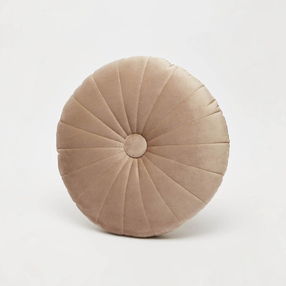 Textured Round Filled Cushion - 45 cms