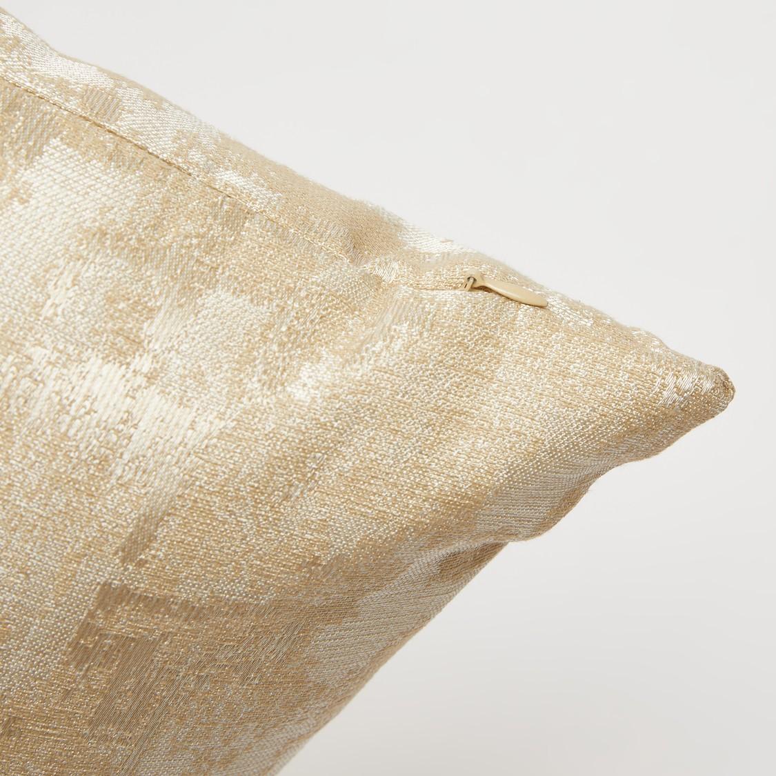 وسادة محشوّة بارزة الملمس بسحّاب إغلاق - 43x43 سم