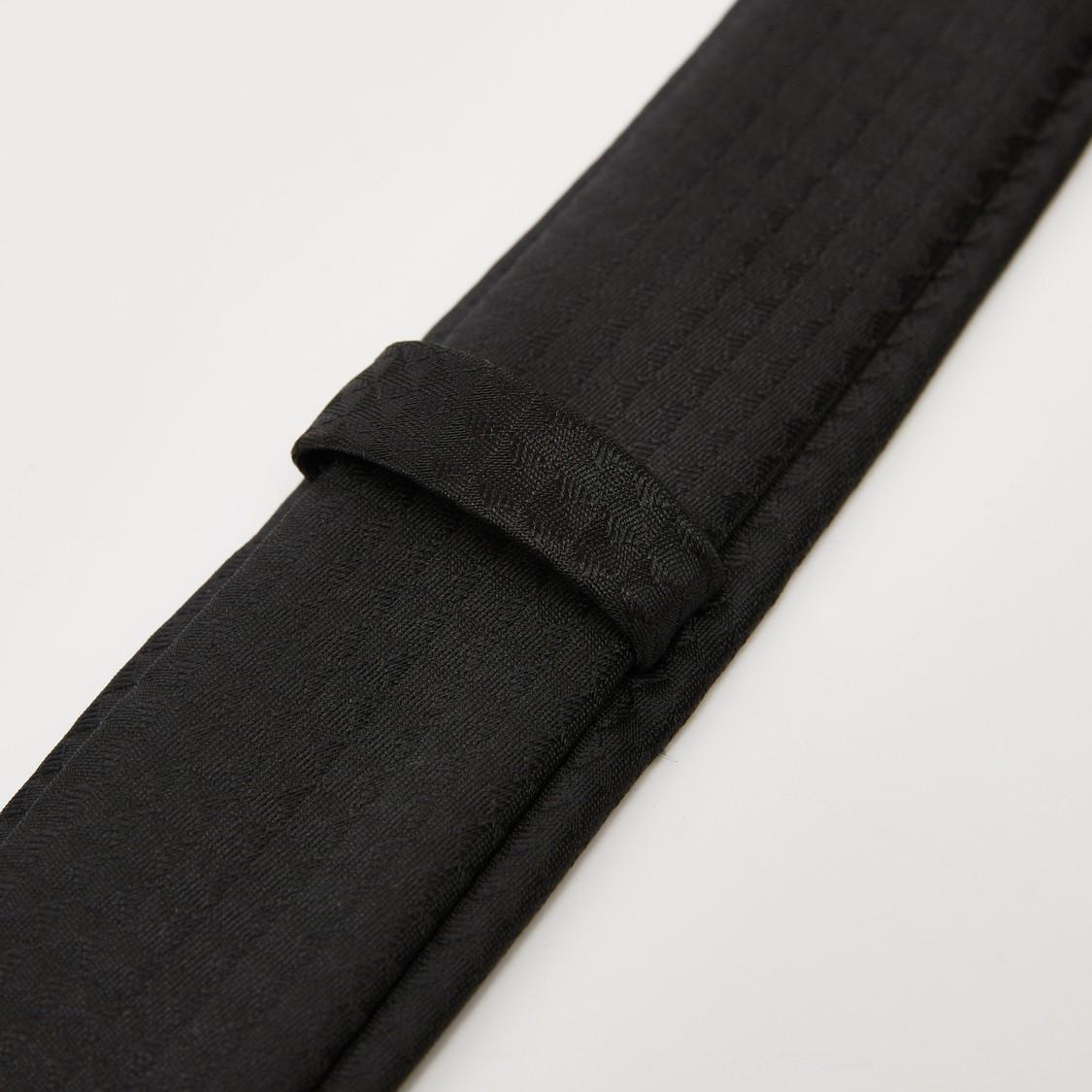 Textured Necktie with Keeper Loop