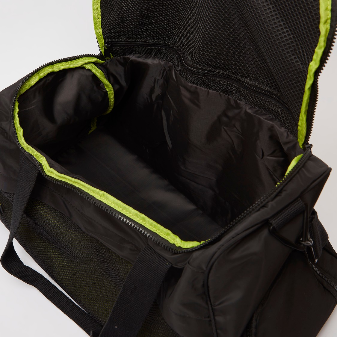Solid Gym Bag with Twin Handle and Zip Closure