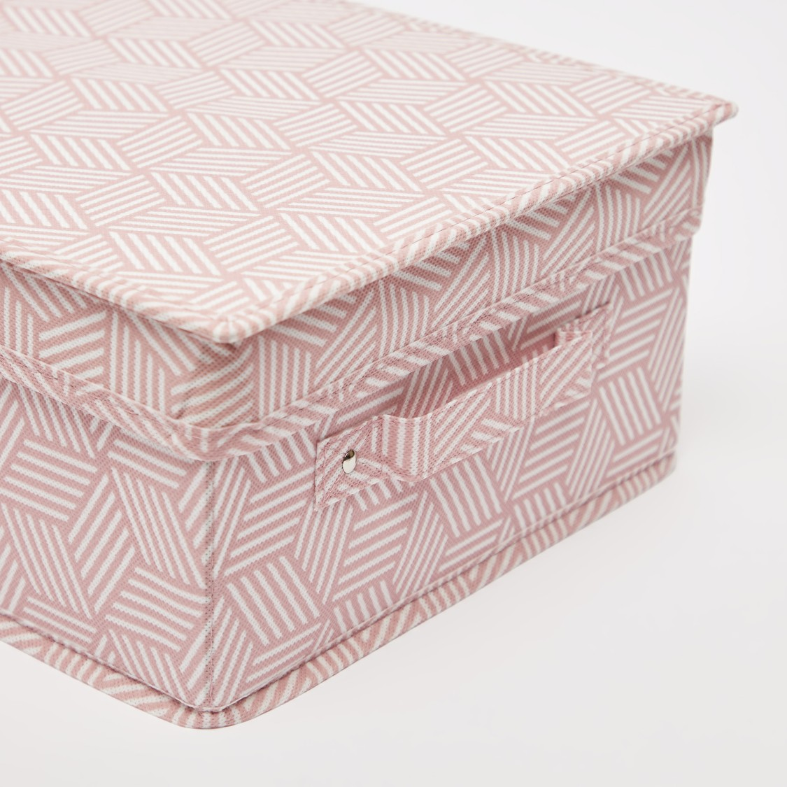 Abstract Print Storage Box with Handle and Lid - 28x33x15 cms