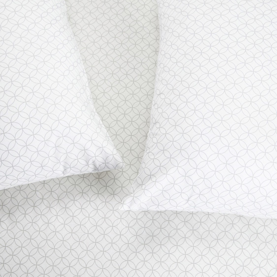 Geometric Print 3-Piece Single Fitted Sheet and Pillow Cover Set - 200x90 cm