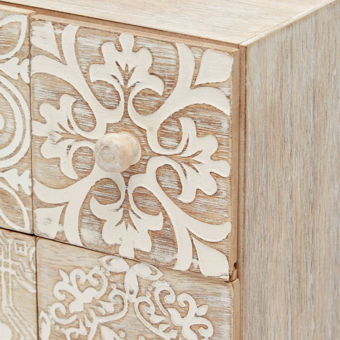 Patterned Table Top Jewellery Box with Drawers