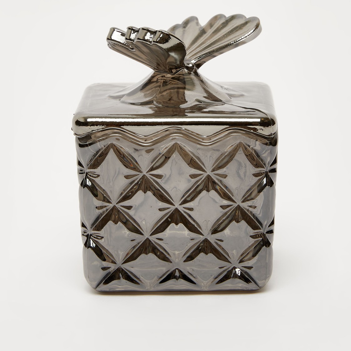 Embossed Glass Jar with Lid