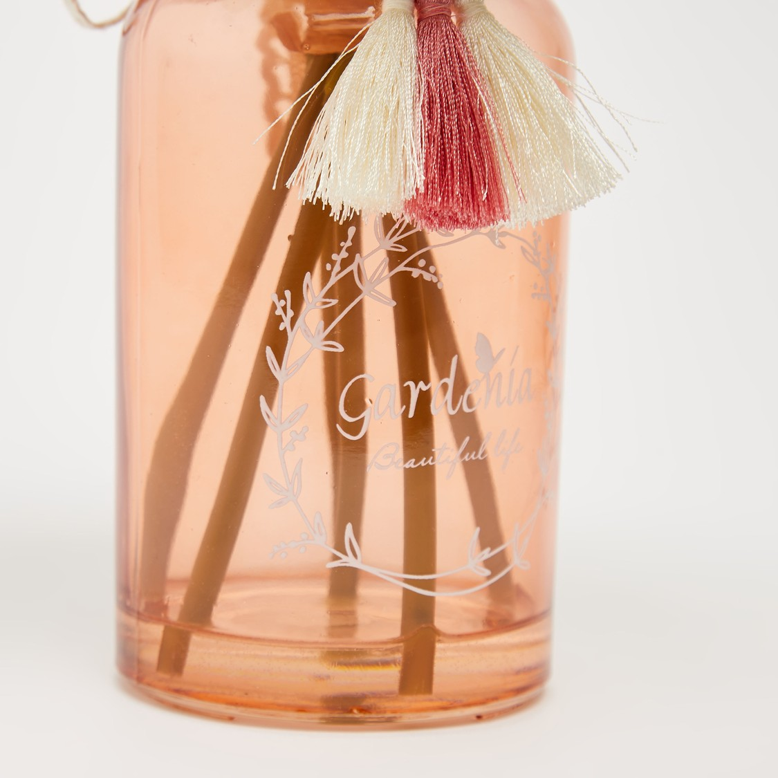 Artificial Flowers with Vase and Tassel Accent