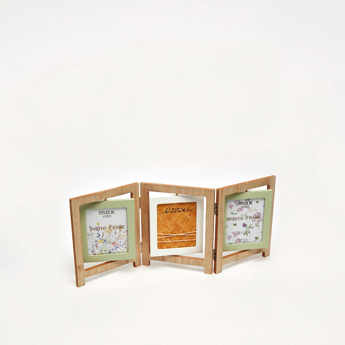 Rectangular Foldable 3-Photo Collage Picture Frame - 11x 9 cms
