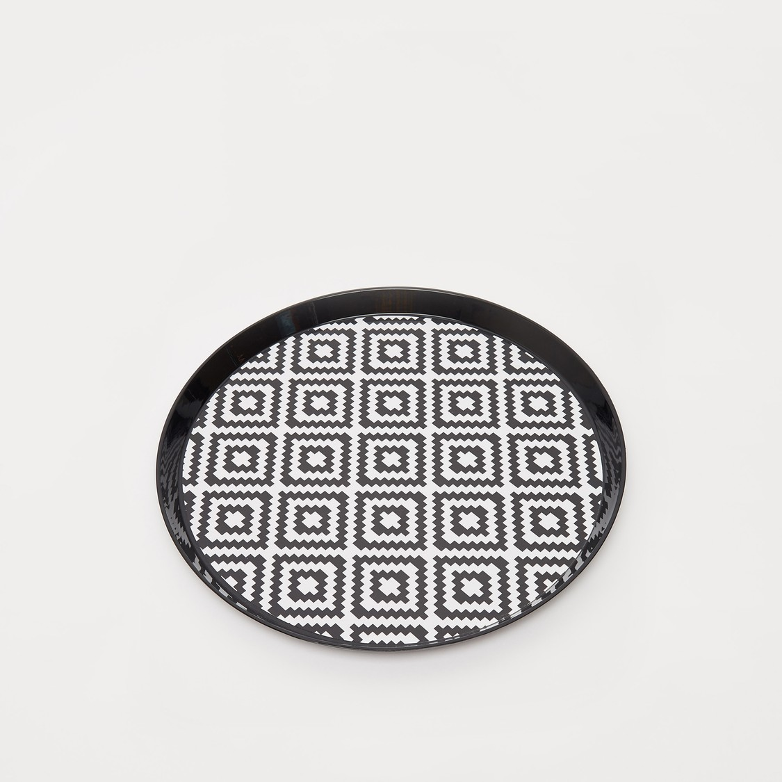 Printed Round Serving Tray - 35x2 cms