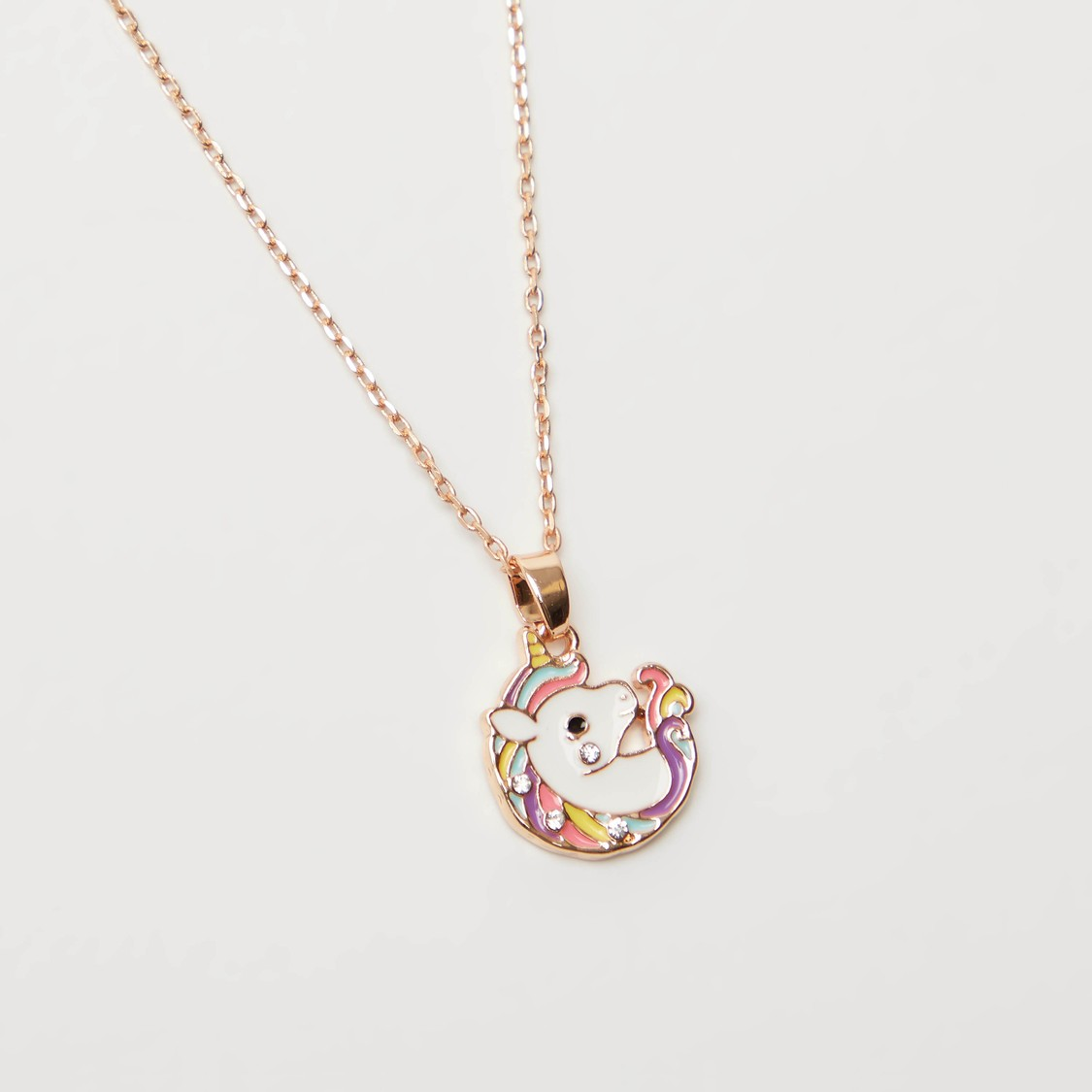 Unicorn Pendant Necklace with Earrings Set