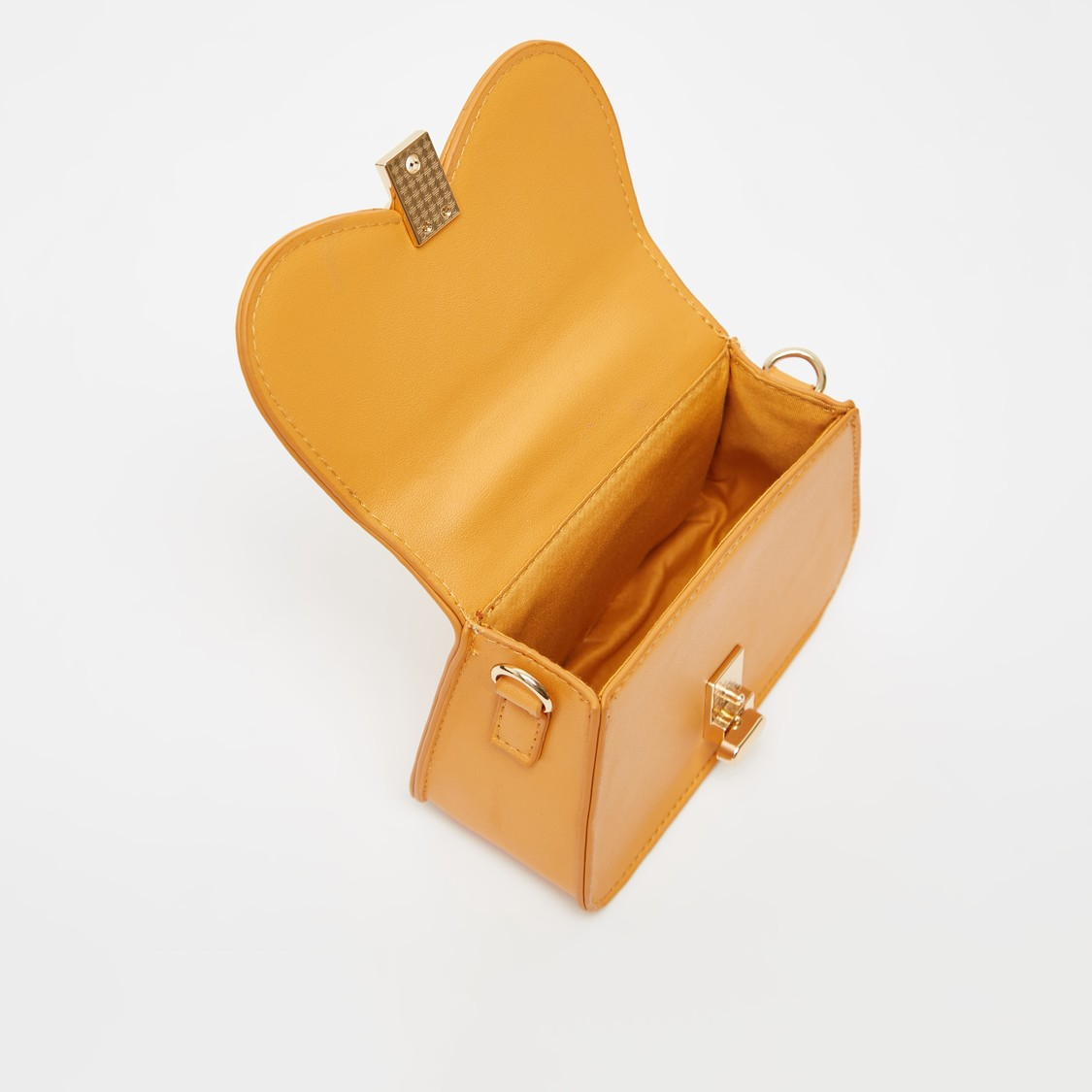 Solid Satchel Bag with Detachable Strap and Grab Handle