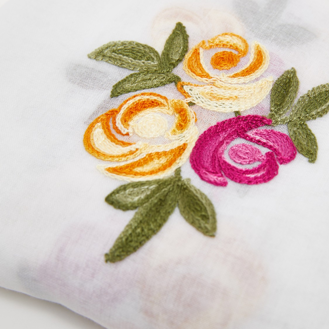 Floral Embroidered Rectangle Scarf