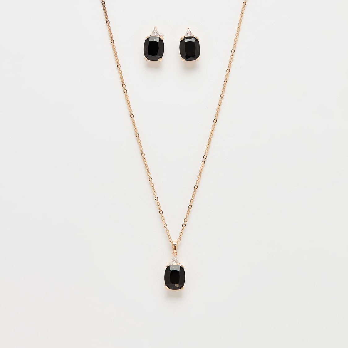 Embellished Pendant Necklace and Earrings