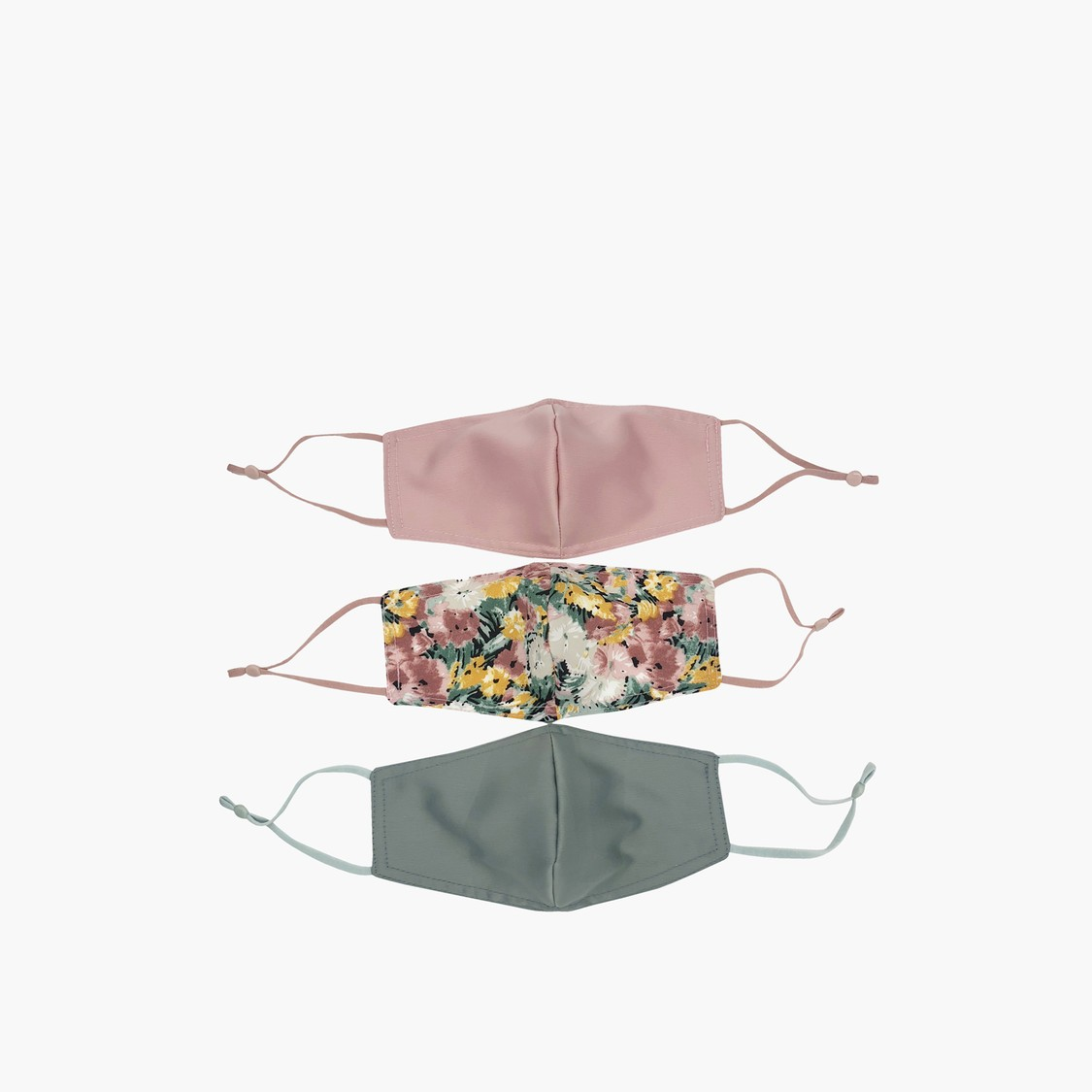 Set of 3 - Assorted Textile Anti-Dust Reusable Mask
