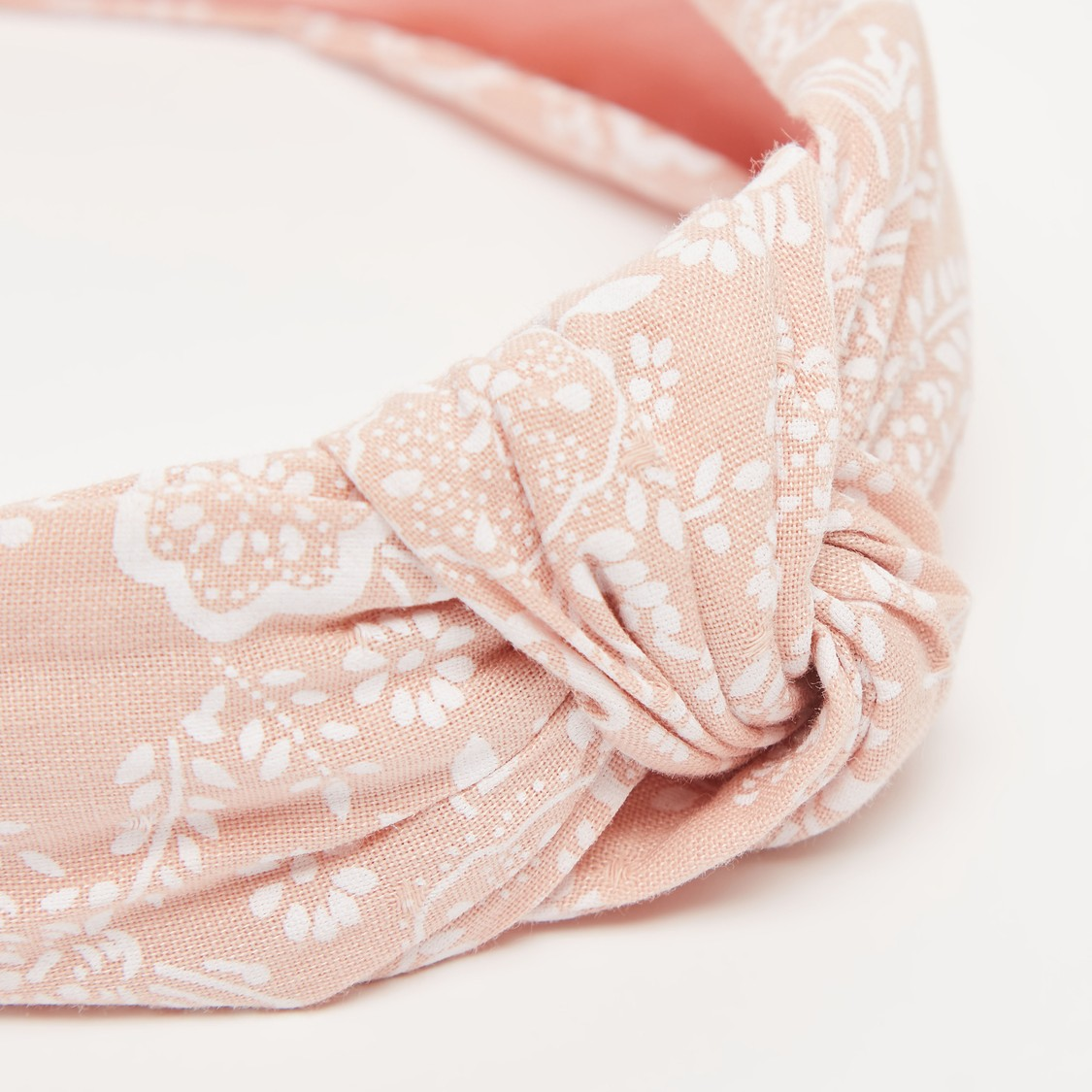 Floral Printed Twisted Knot Hairband