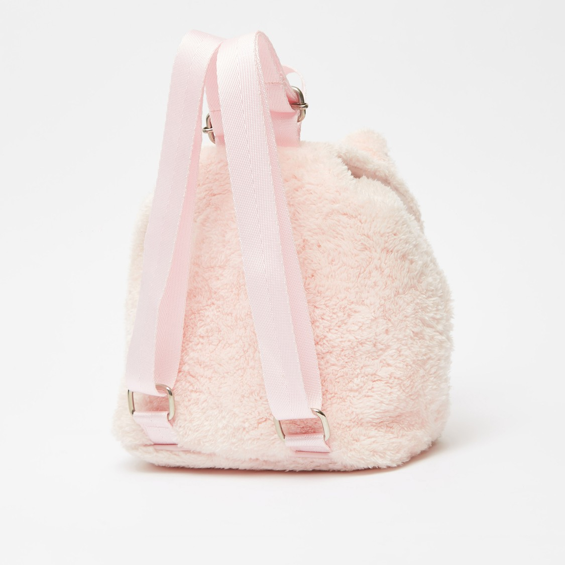Unicorn Applique Detail Plush Backpack with Drawstring Closure