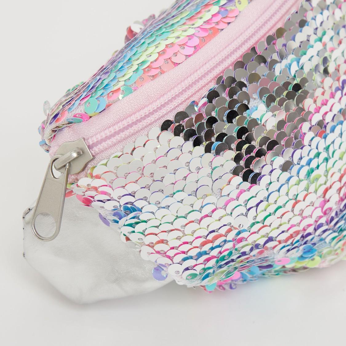 Sequin Embellished Waist Bag