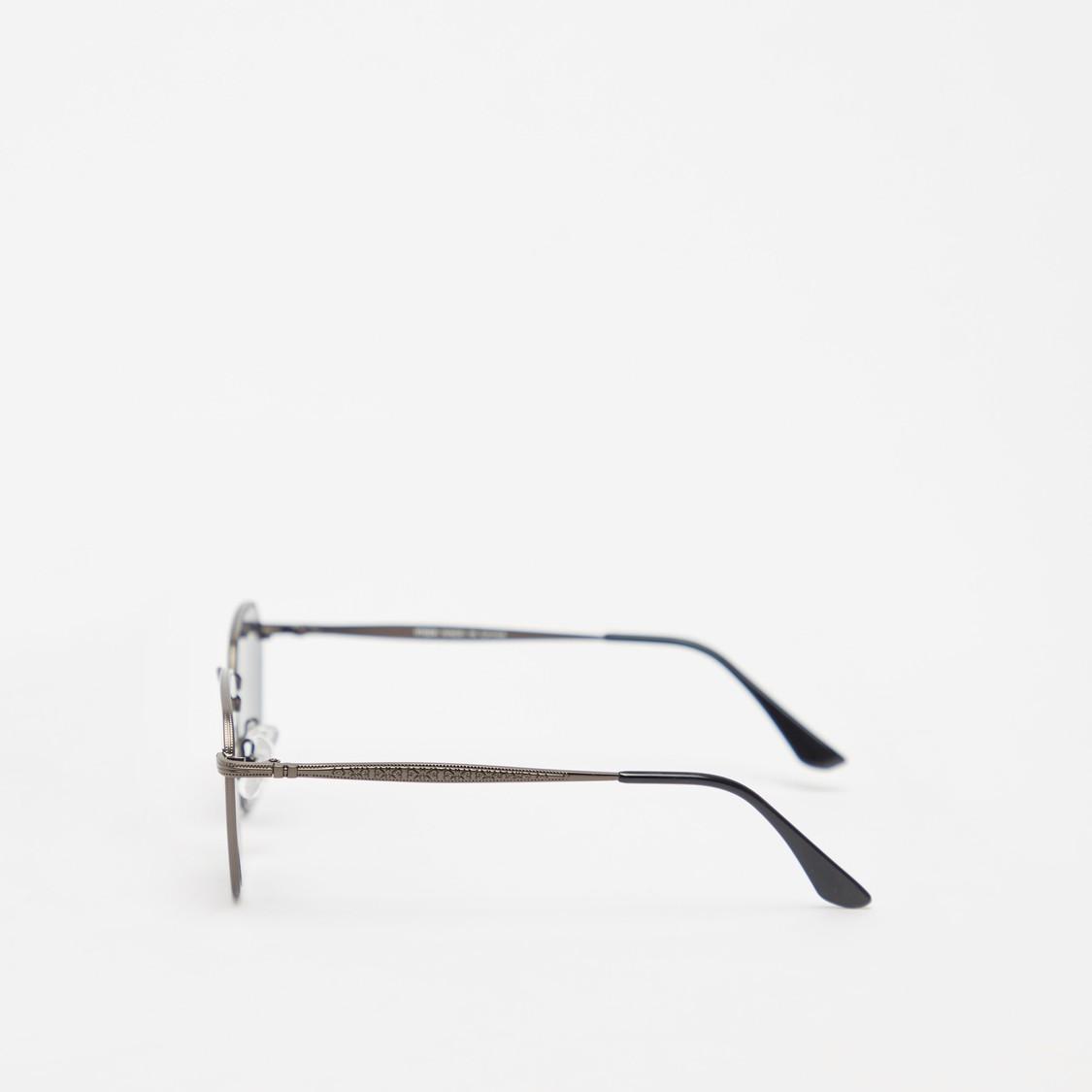 Full Rim Square Sunglasses with Nose Pads