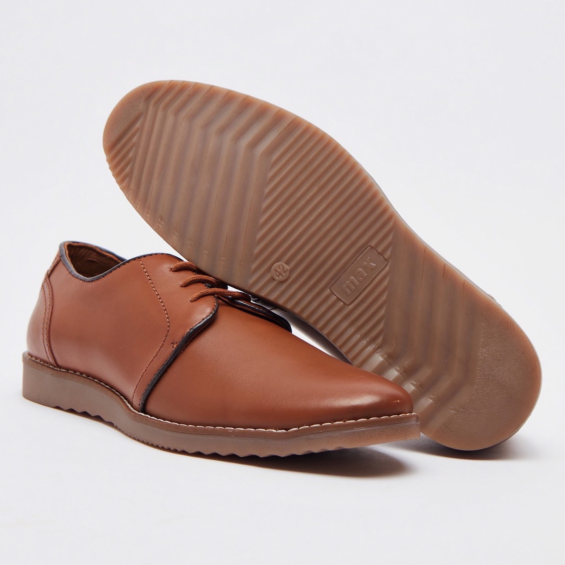 Solid Formal Shoes with Lace-Up Closure