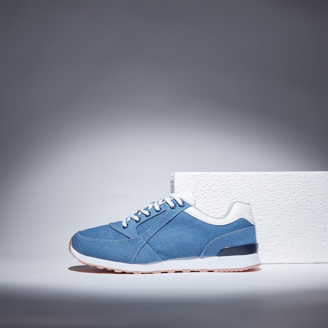 Denim Lace-Up Sports Shoes