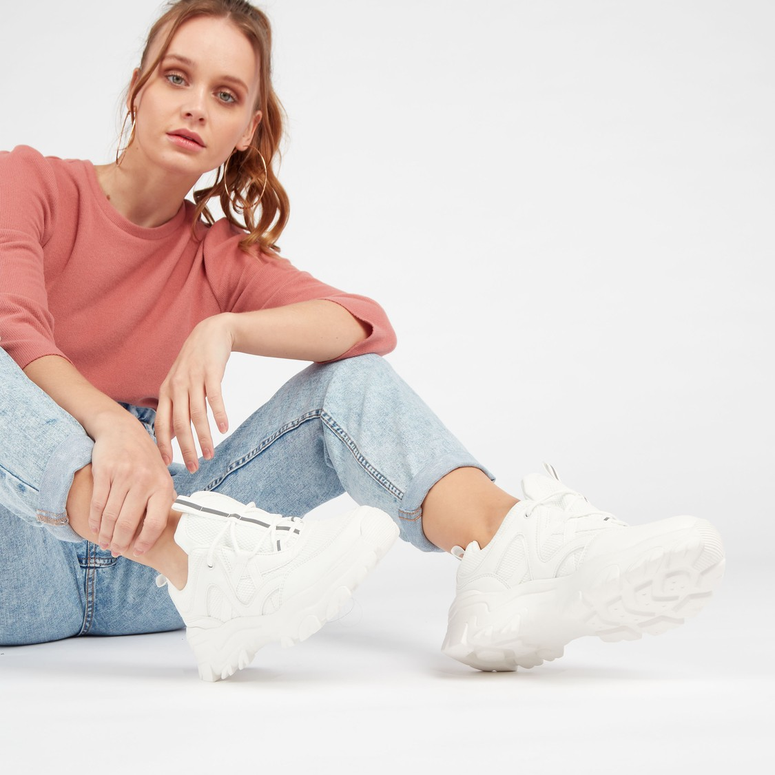 Chunky Lace Up Casual Sneakers