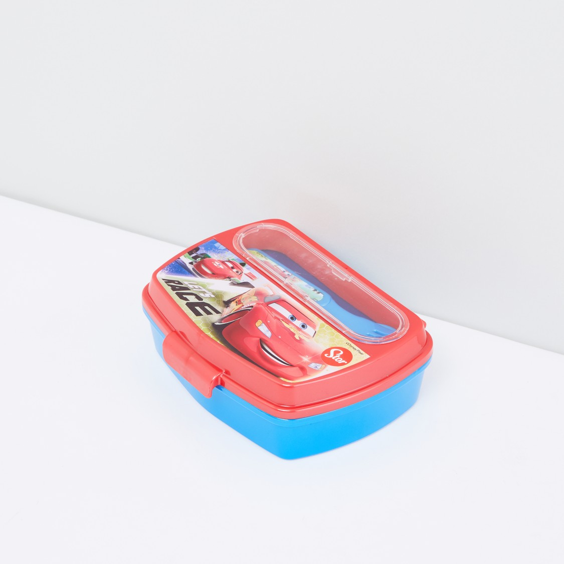Cars Printed Lunch Box with Cutlery