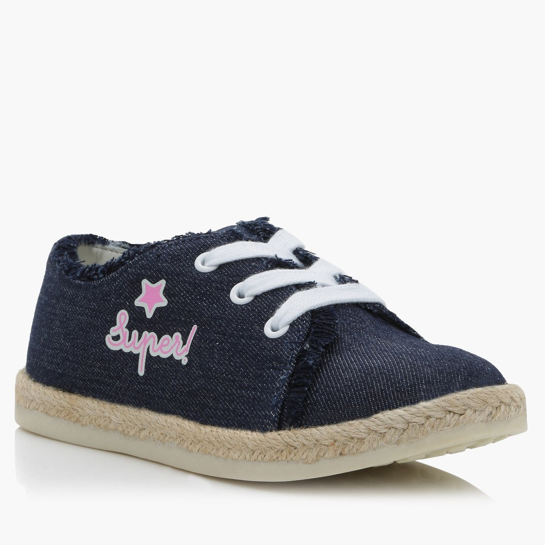 Lace-Up Shoes with Fringed Detail