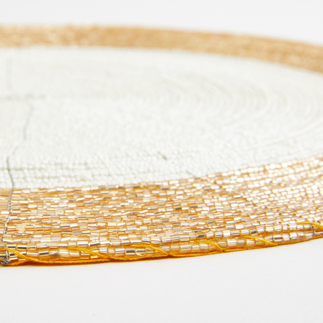 Bead Detail Round Placemat