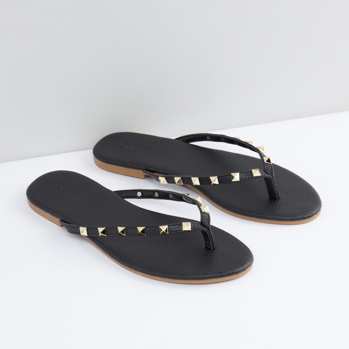 Studded Flat Slides