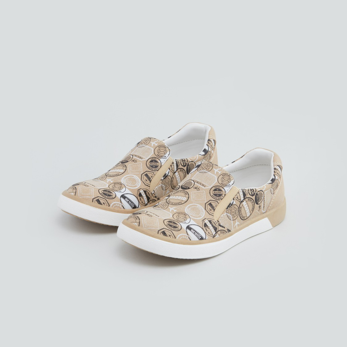 Printed Shoes with Gusset Detail
