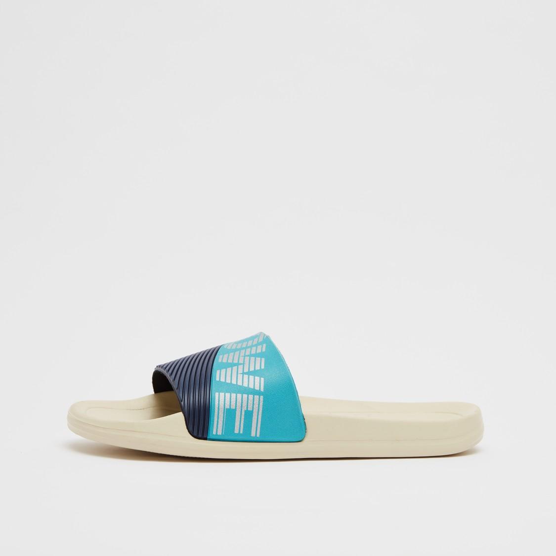 Textured Slip-On Slides with Vamp Band