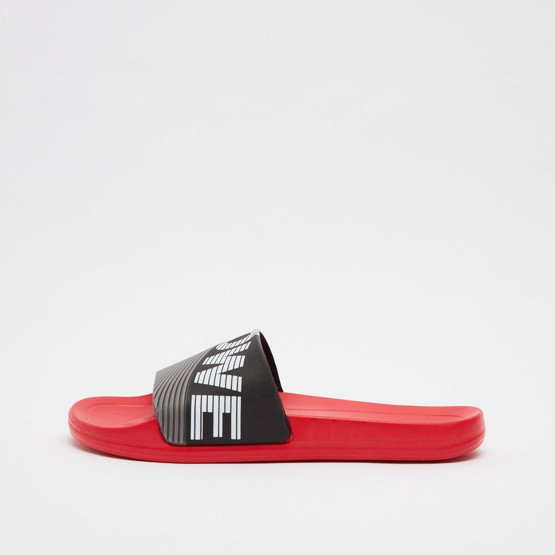 Textured Slip-On Slides with Vamp Band